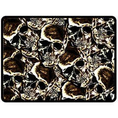 Skull pattern Fleece Blanket (Large)
