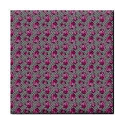 Floral Pattern Tile Coasters
