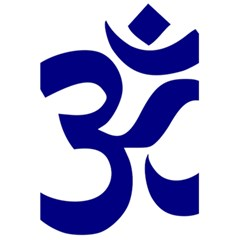 Om Symbol (navy Blue) 5 5  X 8 5  Notebooks