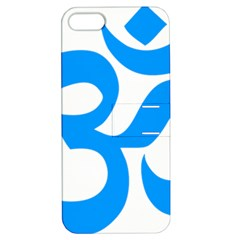 Hindu Om Symbol (Ocean Blue) Apple iPhone 5 Hardshell Case with Stand