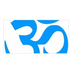 Hindu Om Symbol (Ocean Blue) Satin Shawl