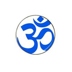 Hindu Om Symbol (Blue) Hat Clip Ball Marker