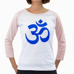 Hindu Om Symbol (Blue) Girly Raglans
