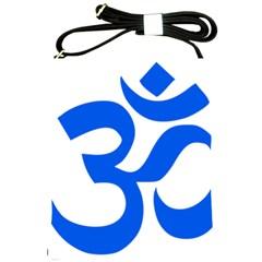 Hindu Om Symbol (Blue) Shoulder Sling Bags