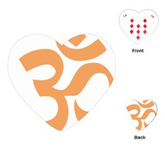 Hindu Om Symbol (Sandy Brown) Playing Cards (Heart)