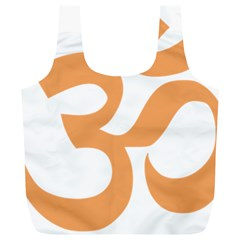 Hindu Om Symbol (sandy Brown) Full Print Recycle Bags (l)