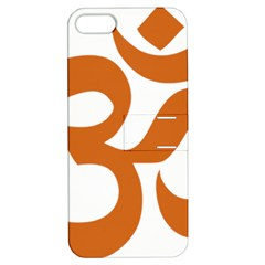 Hindu Om Symbol (Chocolate Brown) Apple iPhone 5 Hardshell Case with Stand