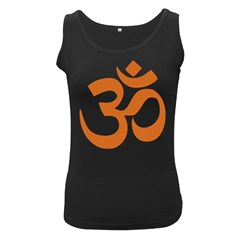 Hindu Om Symbol (Chocolate Brown) Women s Black Tank Top