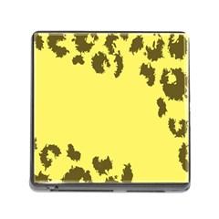 Banner Polkadot Yellow Grey Spot Memory Card Reader (Square)