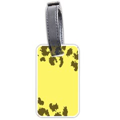 Banner Polkadot Yellow Grey Spot Luggage Tags (One Side)