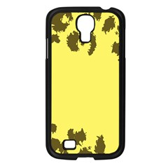 Banner Polkadot Yellow Grey Spot Samsung Galaxy S4 I9500/ I9505 Case (black)