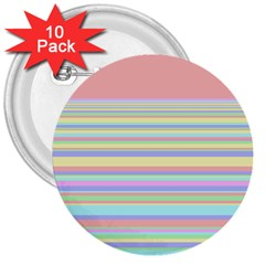 All Ratios Color Rainbow Pink Yellow Blue Green 3  Buttons (10 pack)