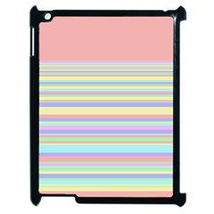 All Ratios Color Rainbow Pink Yellow Blue Green Apple iPad 2 Case (Black)