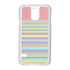 All Ratios Color Rainbow Pink Yellow Blue Green Samsung Galaxy S5 Case (white)