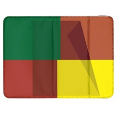 Albers Out Plaid Green Pink Yellow Red Line Samsung Galaxy Tab 7  P1000 Flip Case