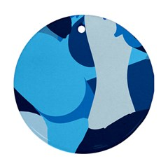 Blue Polka Ornament (Round)