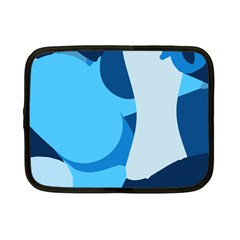 Blue Polka Netbook Case (Small)