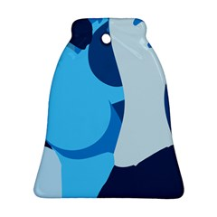 Blue Polka Bell Ornament (Two Sides)