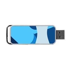Blue Polka Portable USB Flash (One Side)
