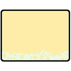 Bubbles Yellow Blue White Polka Fleece Blanket (large)
