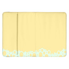 Bubbles Yellow Blue White Polka Samsung Galaxy Tab 8.9  P7300 Flip Case