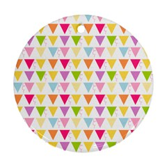 Bunting Triangle Color Rainbow Ornament (Round)