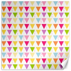 Bunting Triangle Color Rainbow Canvas 12  x 12