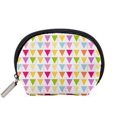 Bunting Triangle Color Rainbow Accessory Pouches (small)