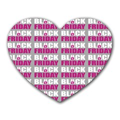 Black Friday Sale White Pink Disc Heart Mousepads