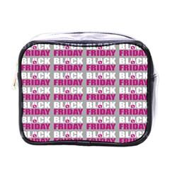 Black Friday Sale White Pink Disc Mini Toiletries Bags