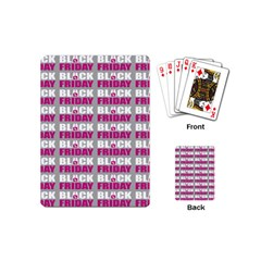Black Friday Sale White Pink Disc Playing Cards (Mini)