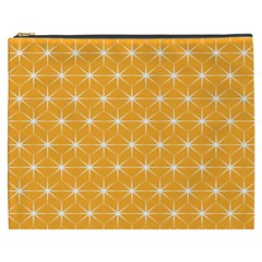 Yellow Stars Iso Line White Cosmetic Bag (XXXL)