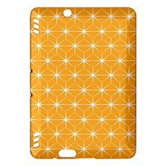 Yellow Stars Iso Line White Kindle Fire HDX Hardshell Case