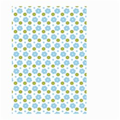 Blue Yellow Star Sunflower Flower Floral Small Garden Flag (two Sides)