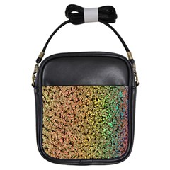 Crystals Rainbow Girls Sling Bags
