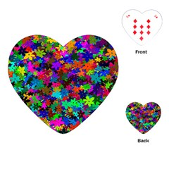 Flowersfloral Star Rainbow Playing Cards (Heart)