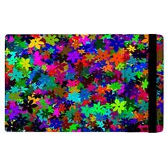 Flowersfloral Star Rainbow Apple iPad 2 Flip Case