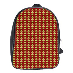Hawthorn Sharkstooth Triangle Green Red School Bags(Large)