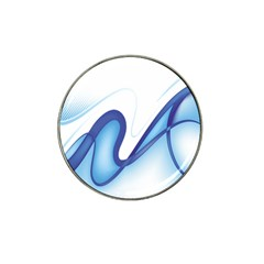 Glittering Abstract Lines Blue Wave Chefron Hat Clip Ball Marker (10 pack)