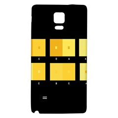 Horizontal Color Scheme Plaid Black Yellow Galaxy Note 4 Back Case