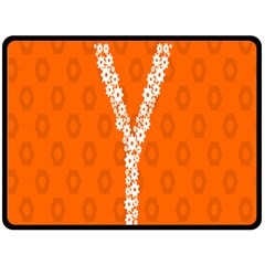 Iron Orange Y Combinator Gears Fleece Blanket (Large)