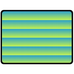 Line Horizontal Green Blue Yellow Light Wave Chevron Double Sided Fleece Blanket (large)