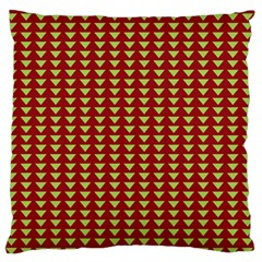 Hawthorn Sharkstooth Triangle Green Red Full Standard Flano Cushion Case (Two Sides)