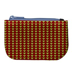 Hawthorn Sharkstooth Triangle Green Red Full Large Coin Purse