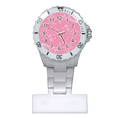Floral Design Plastic Nurses Watch