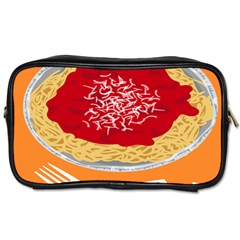 Instant Noodles Mie Sauce Tomato Red Orange Knife Fox Food Pasta Toiletries Bags 2 Side
