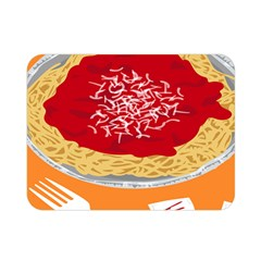 Instant Noodles Mie Sauce Tomato Red Orange Knife Fox Food Pasta Double Sided Flano Blanket (Mini)