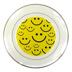 Linus Smileys Face Cute Yellow Porcelain Plates