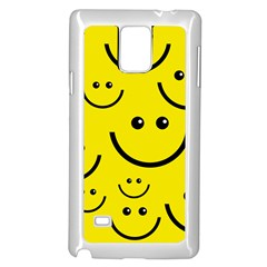 Linus Smileys Face Cute Yellow Samsung Galaxy Note 4 Case (White)