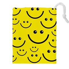 Linus Smileys Face Cute Yellow Drawstring Pouches (XXL)